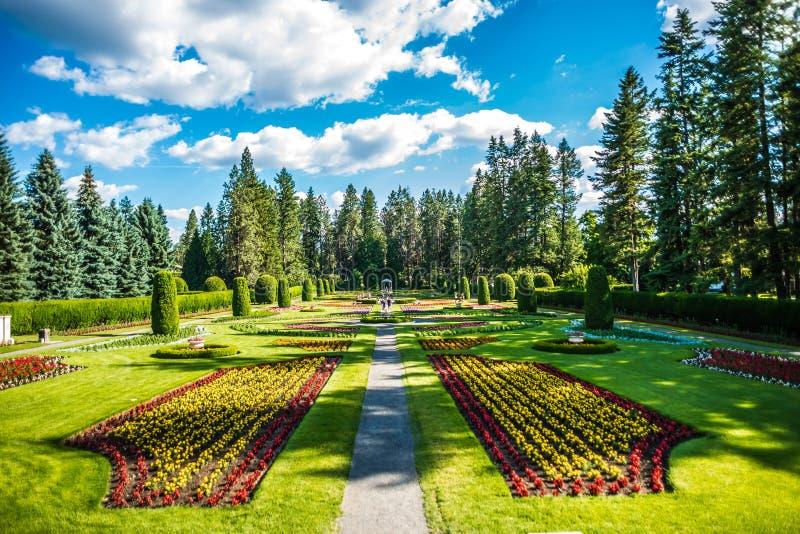 Giardini di Duncan nel wshington di Spokane immagine stock