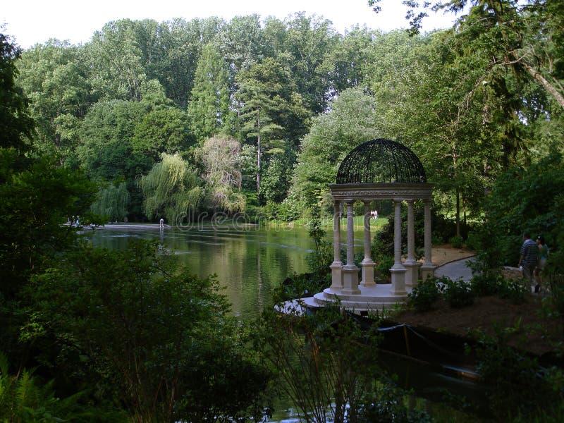 Giardini di Longwood. Gazebo fotografia stock