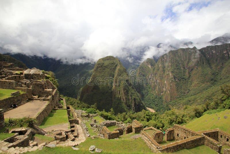 Giardini di Machu Picchu immagini stock