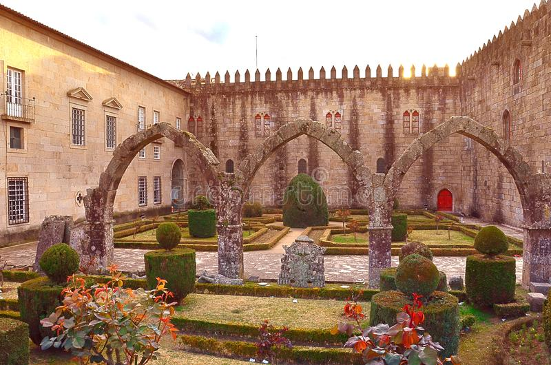 Giardini di Santa Barbara di Braga, Portogallo immagini stock