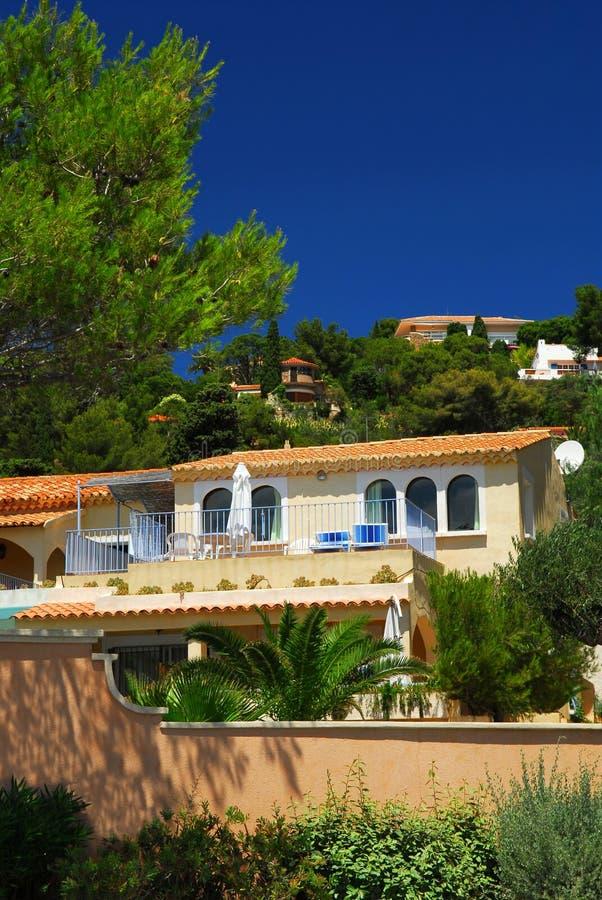 Giardini e ville su Riviera francese fotografie stock