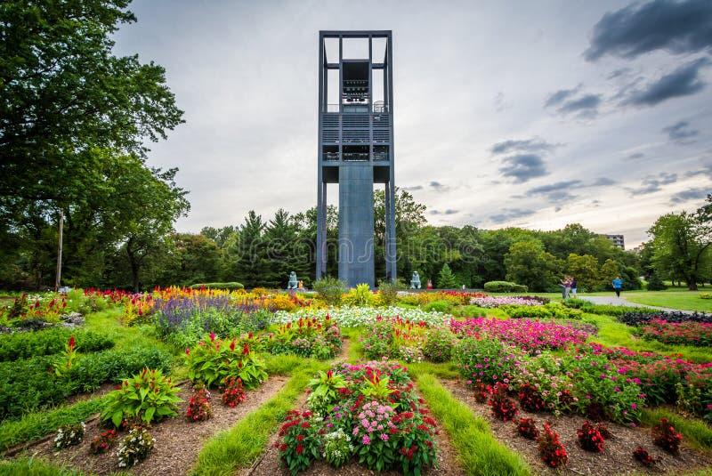Giardini ed il carillon olandese, a Arlington, la Virginia immagini stock