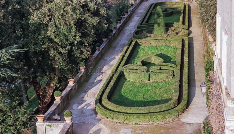 Giardini-Landhaus d ` Este Tivol, Rom stockfotografie