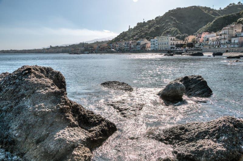 Giardini Naxos Taormina fotografering för bildbyråer