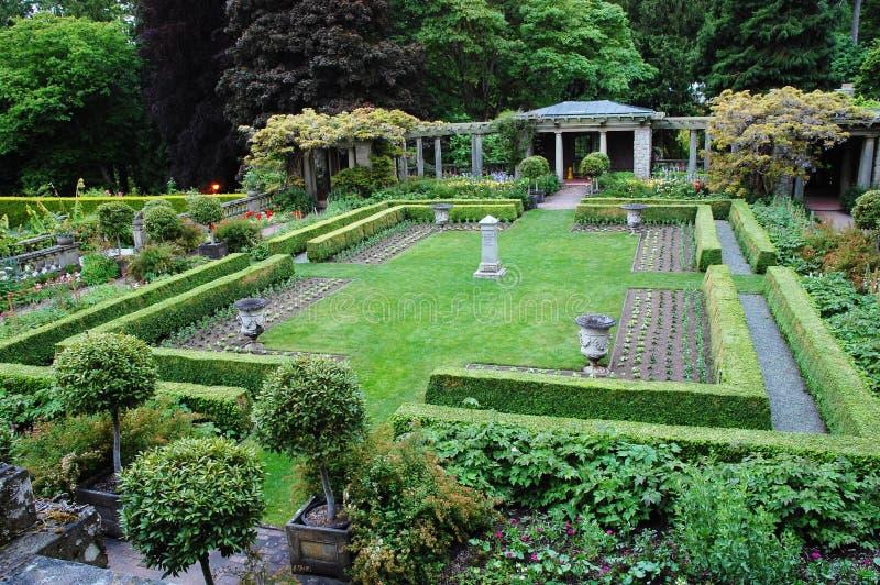 Giardini nella sosta di hatley fotografia stock