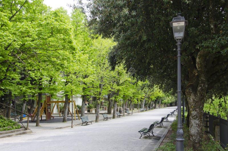 Giardini pubblici di Cortona, Italia immagini stock libere da diritti