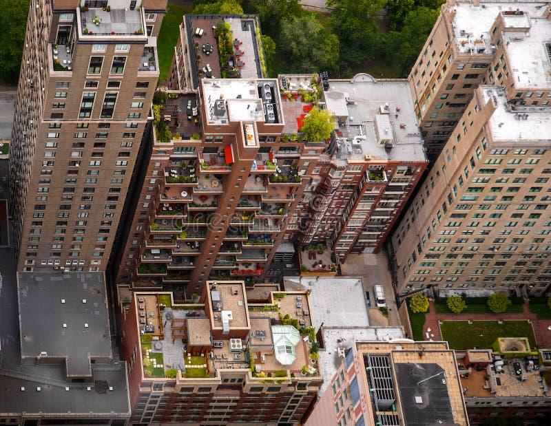 Giardini sul tetto di Chicago fotografie stock
