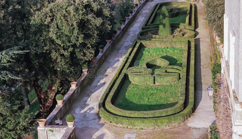 Giardini villa d`Este Tivoli, Rome stock photography