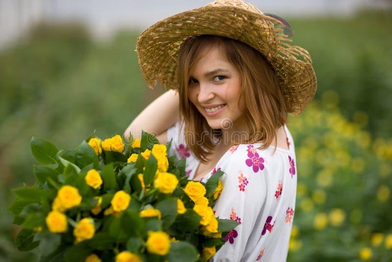 Giardiniere Charming fotografia stock libera da diritti