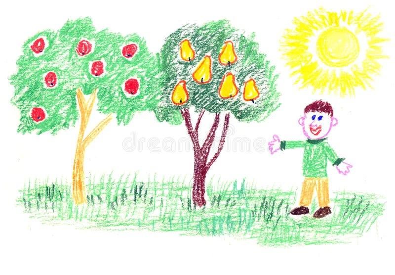 Giardiniere felice illustrazione vettoriale