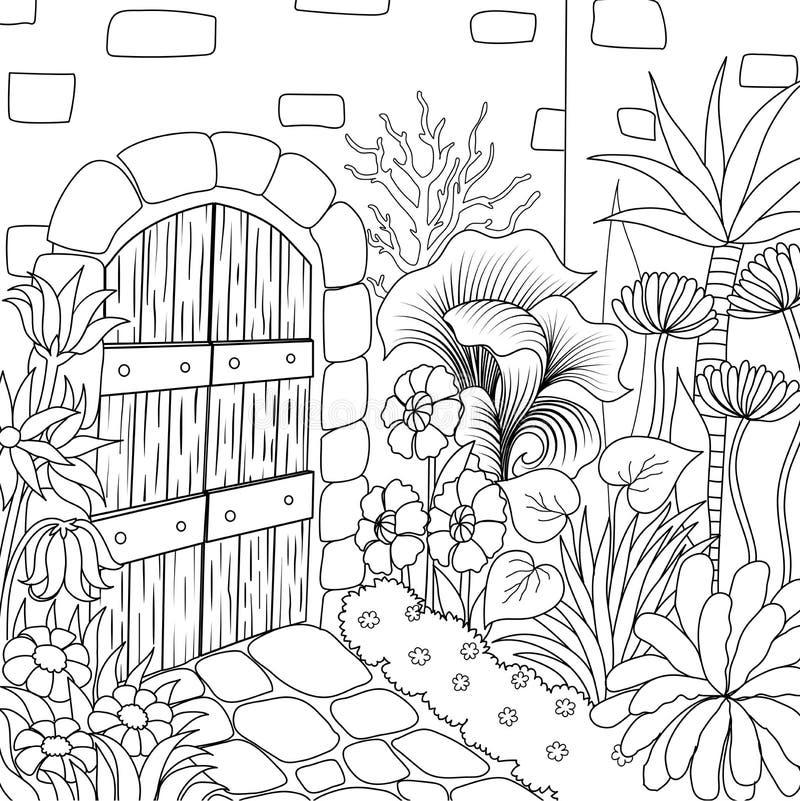 9 giardino 3 illustrazione vettoriale