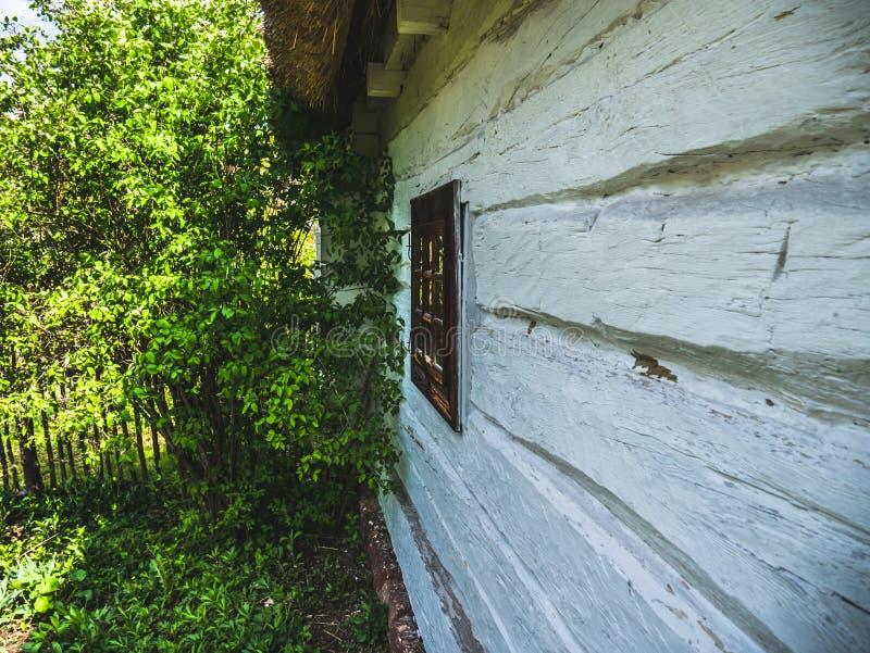 Giardino ad una casa di legno fotografia stock