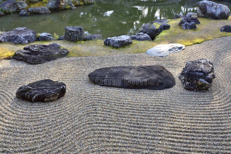 Giardino asciutto giapponese di paesaggio immagini stock libere da diritti