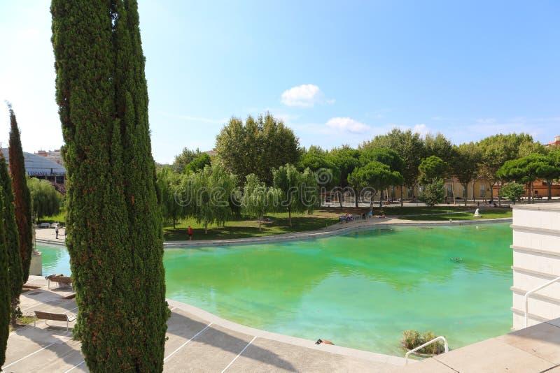 Giardino - Barcellona immagine stock