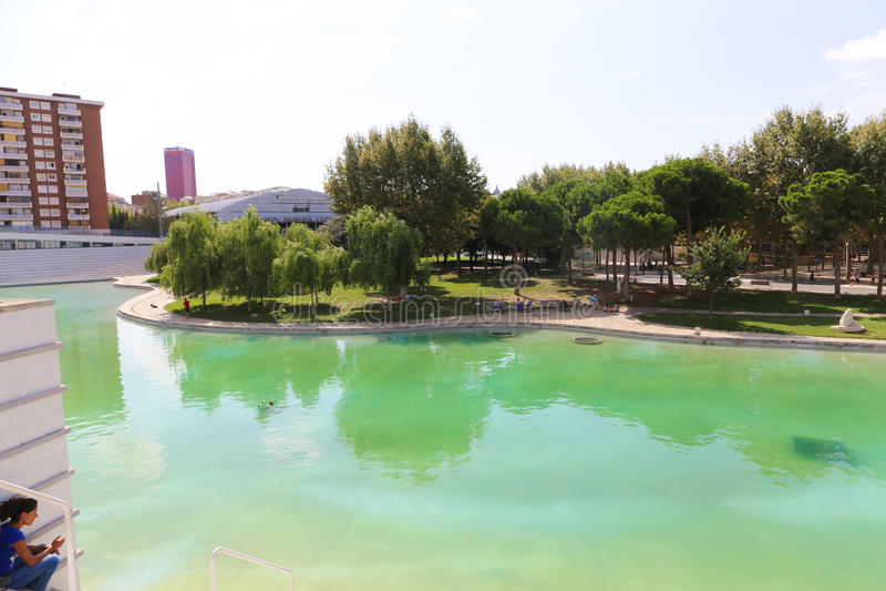 Giardino - Barcellona fotografia stock libera da diritti