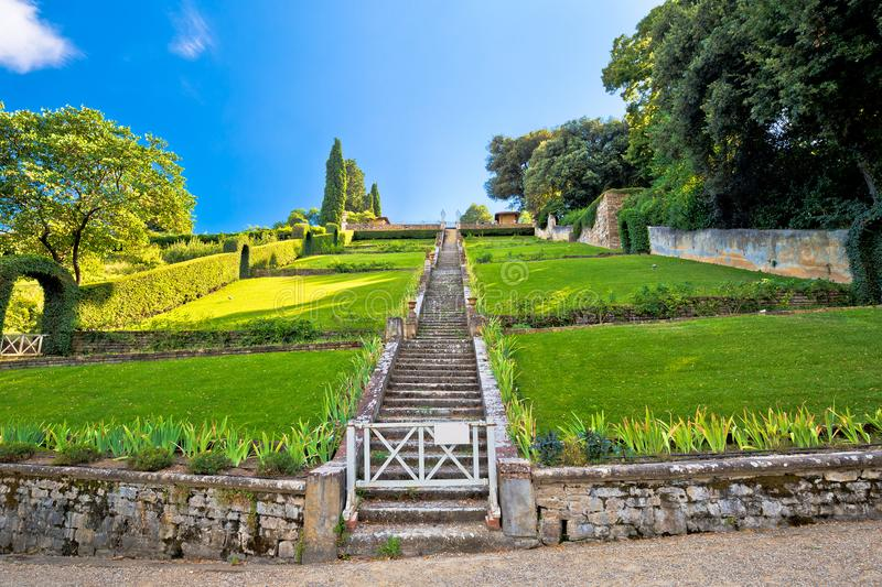 Giardino Bardini park in Florence view royalty free stock image