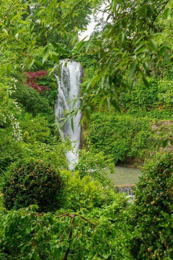 Giardino botanico al palazzo di Balchik in Bulgaria immagine stock