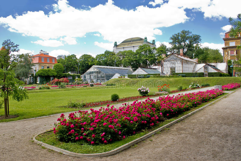 Giardino botanico in città di Zagabria immagini stock libere da diritti