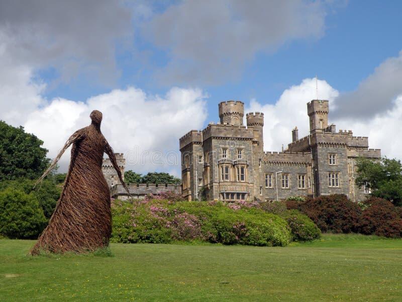 Giardino, castello di Lews, Stornoway, isola di Lewis immagini stock libere da diritti