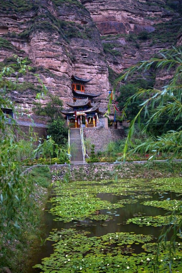 Giardino Cina del tempiale buddista di Binglin Si fotografie stock