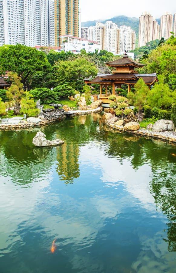 Giardino cinese e costruzioni moderne kowloon fotografia for Giardino cinese