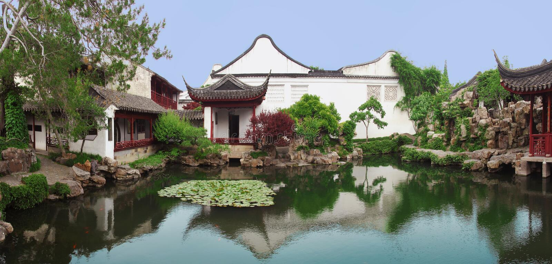 Giardino cinese a Suzhou, vicino a Shanghai immagini stock