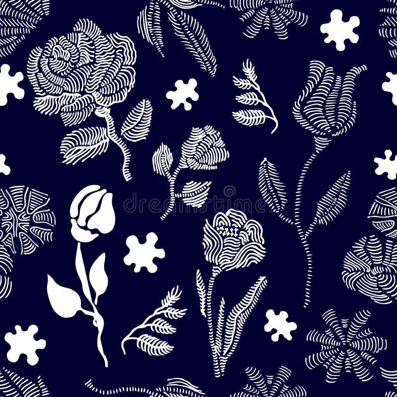 Giardino d'annata scuro illustrazione di stock
