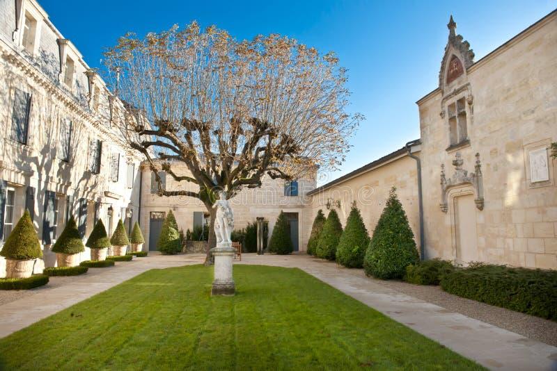 Giardino del castello Haut Brion, Bordeaux Francia fotografia stock