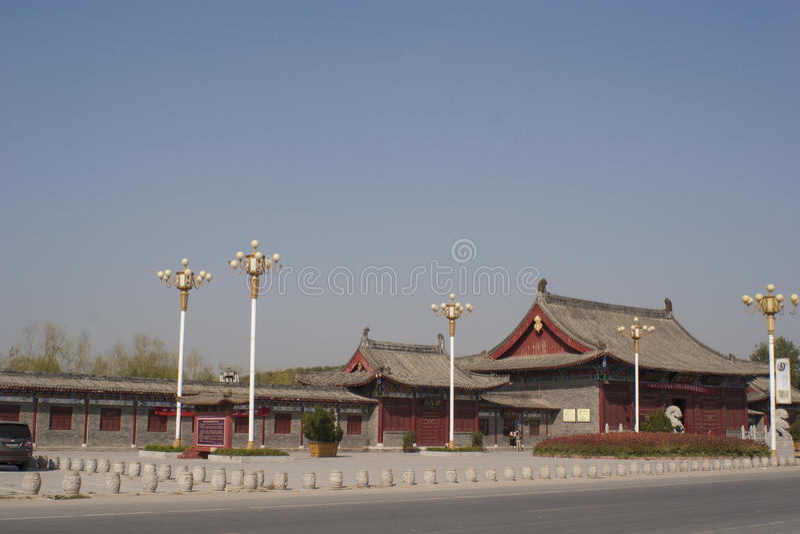 Giardino del cinese tradizionale del mausoleo di Taihao immagine stock