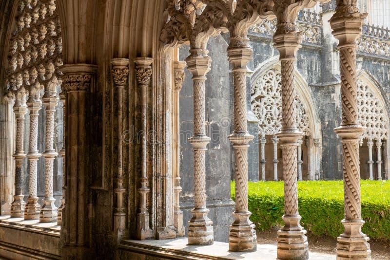 Giardino del monastero di Batalha, Portogallo fotografie stock