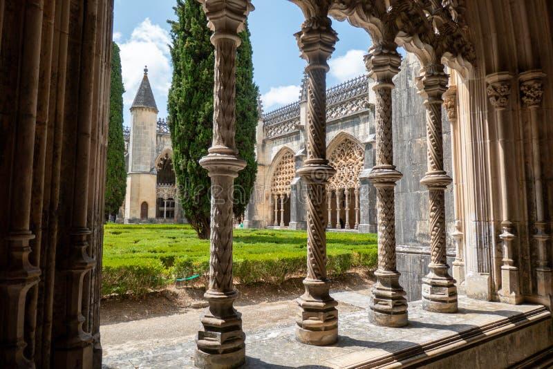 Giardino del monastero di Batalha, Portogallo immagini stock libere da diritti