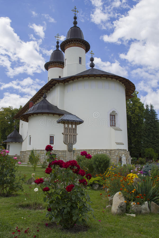 Giardino del monastero di Varatec immagini stock