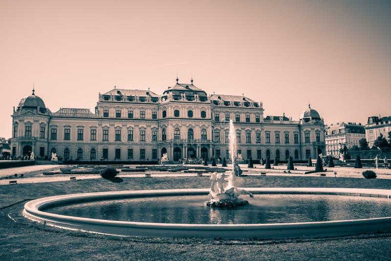 Giardino del palazzo del belvedere a Vienna, Austria fotografia stock libera da diritti