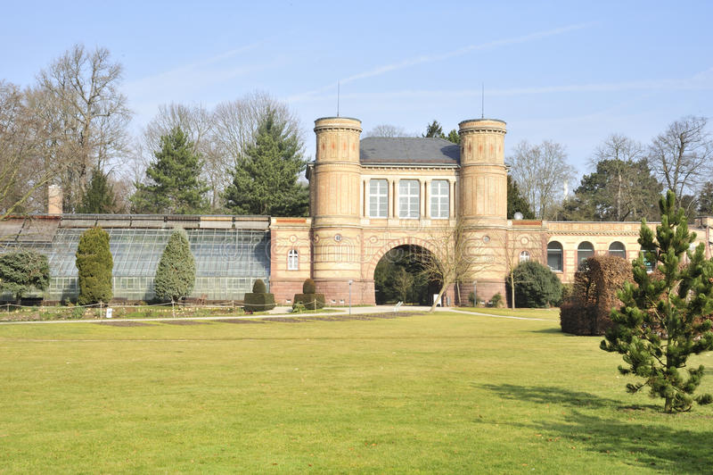 Giardino del palazzo di Karlsruhe fotografia stock