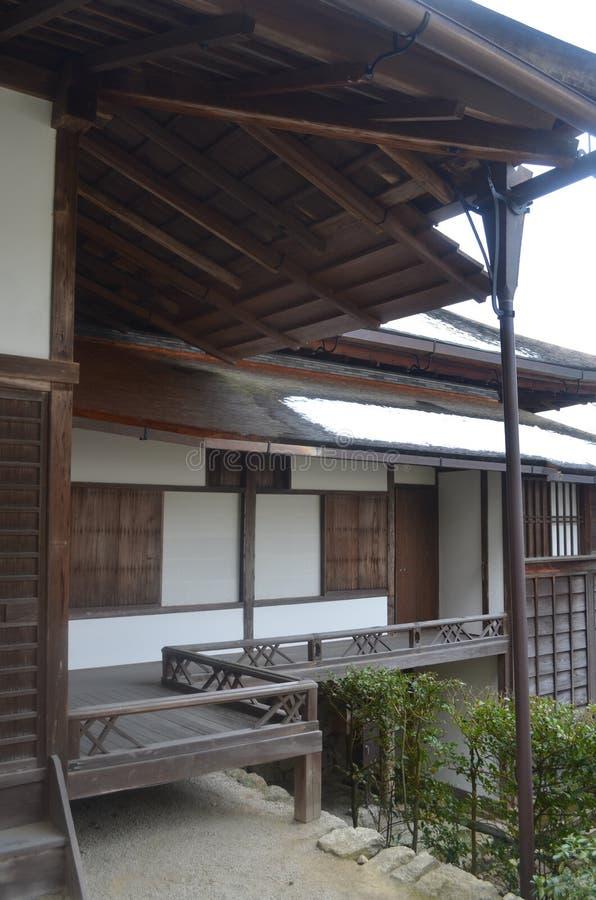 Giardino del villaggio imperiale di Kyoto fotografia stock