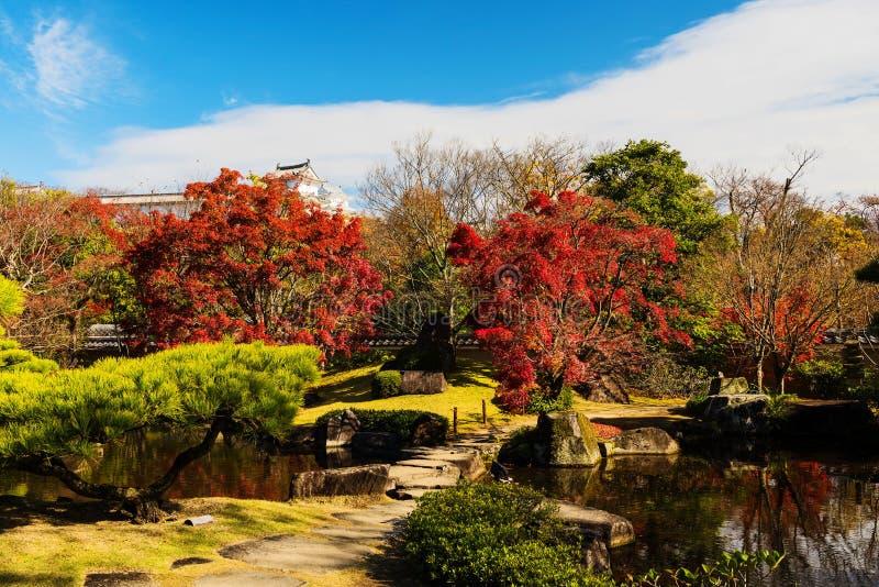 Giardino dell'Koko-en di autunno, Himeji fotografia stock libera da diritti