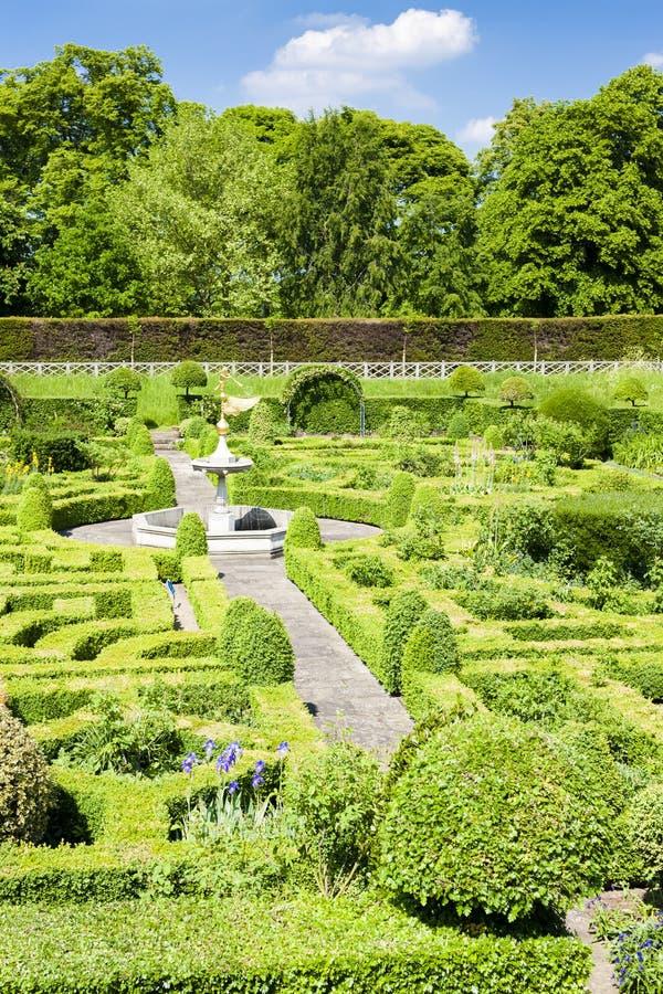 Giardino della Camera di Hatfield, Hertfordshire, Inghilterra fotografia stock