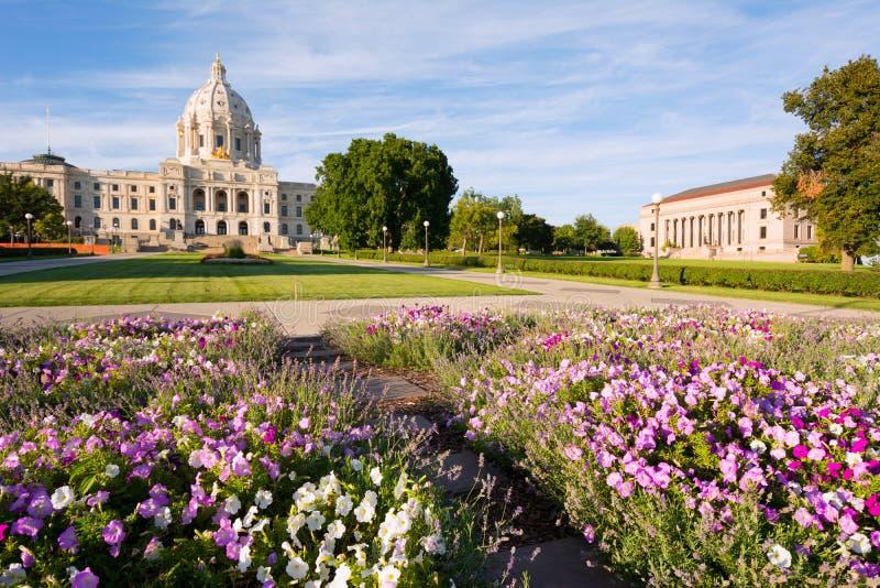 Giardino della capitale del Minnesota fotografia stock