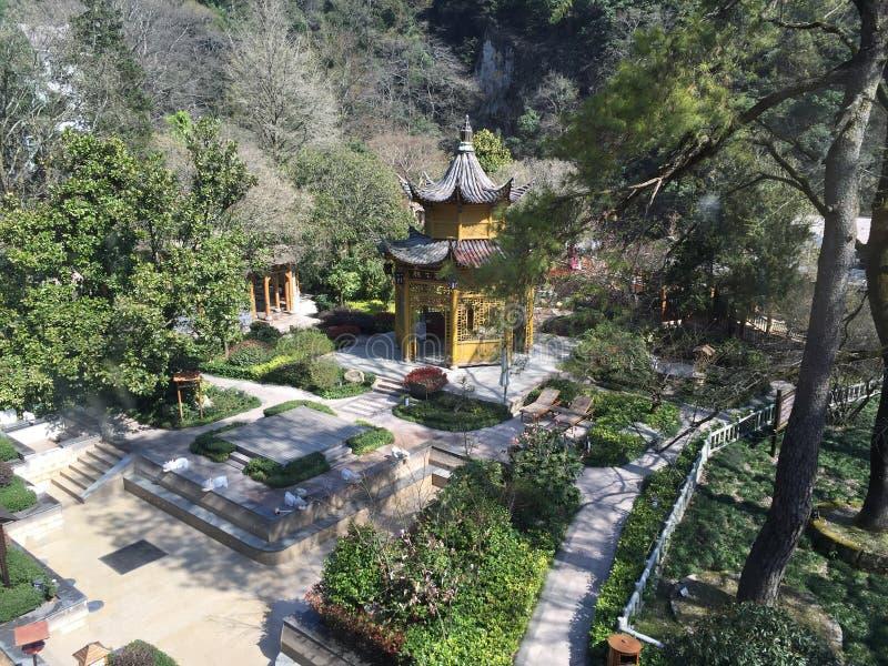 Giardino della primavera di Huangshan fotografie stock