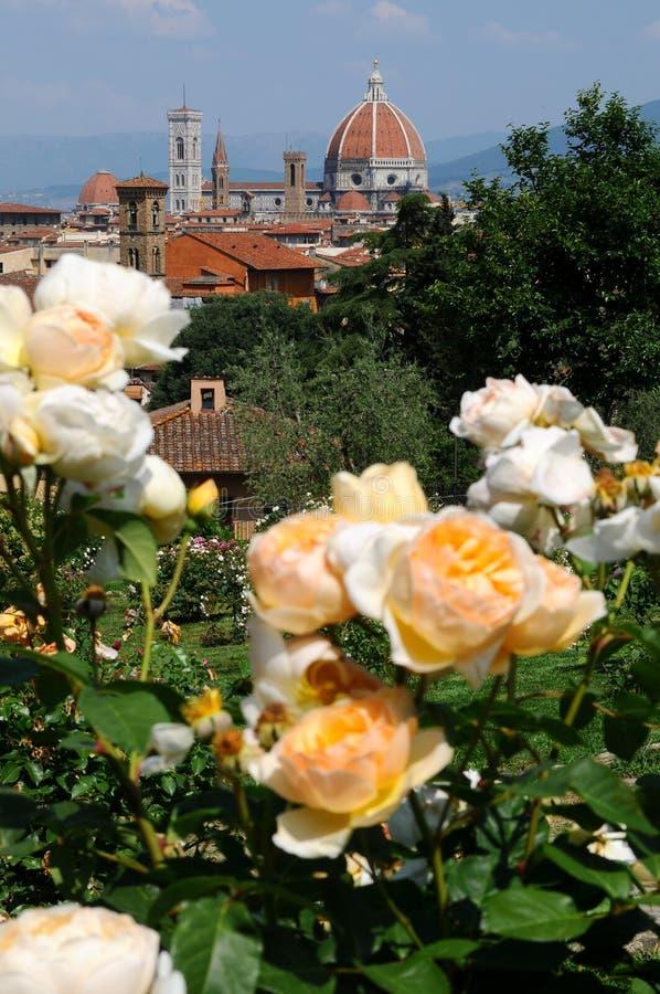 Giardino delle Rose in Florence, Tuscany, Italy stock photo