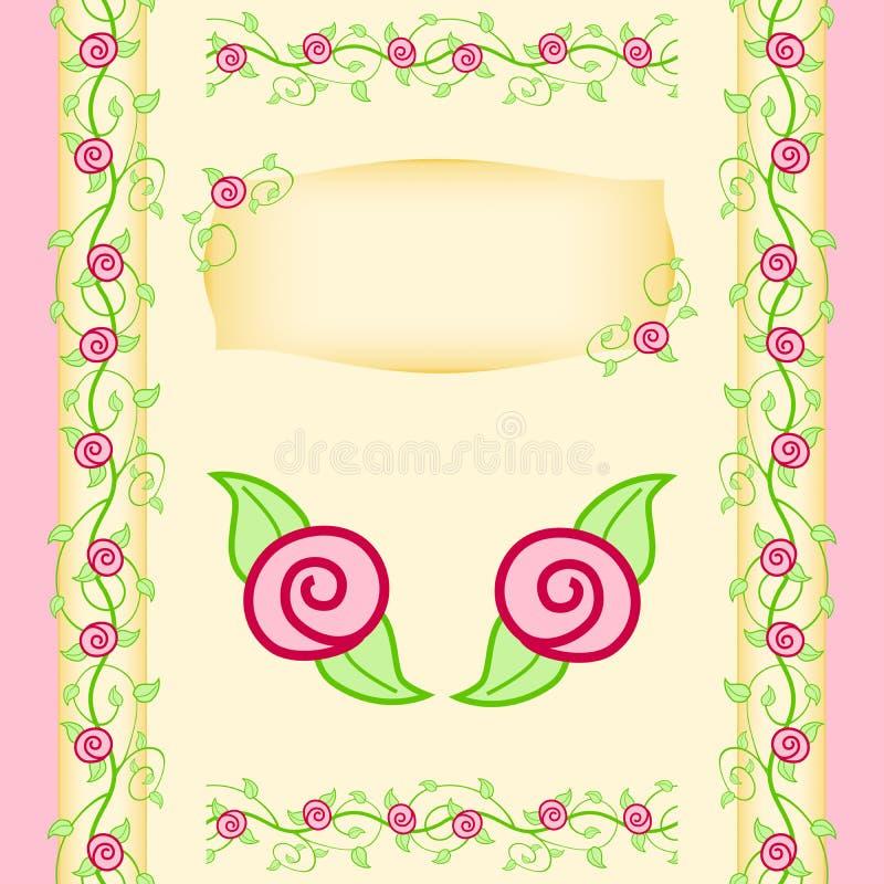 Giardino delle viti della Rosa royalty illustrazione gratis