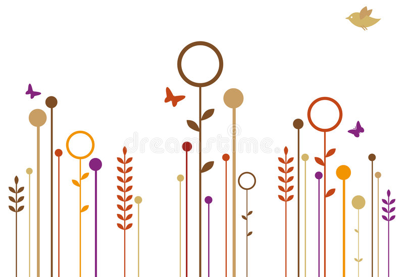 Giardino di autunno illustrazione vettoriale