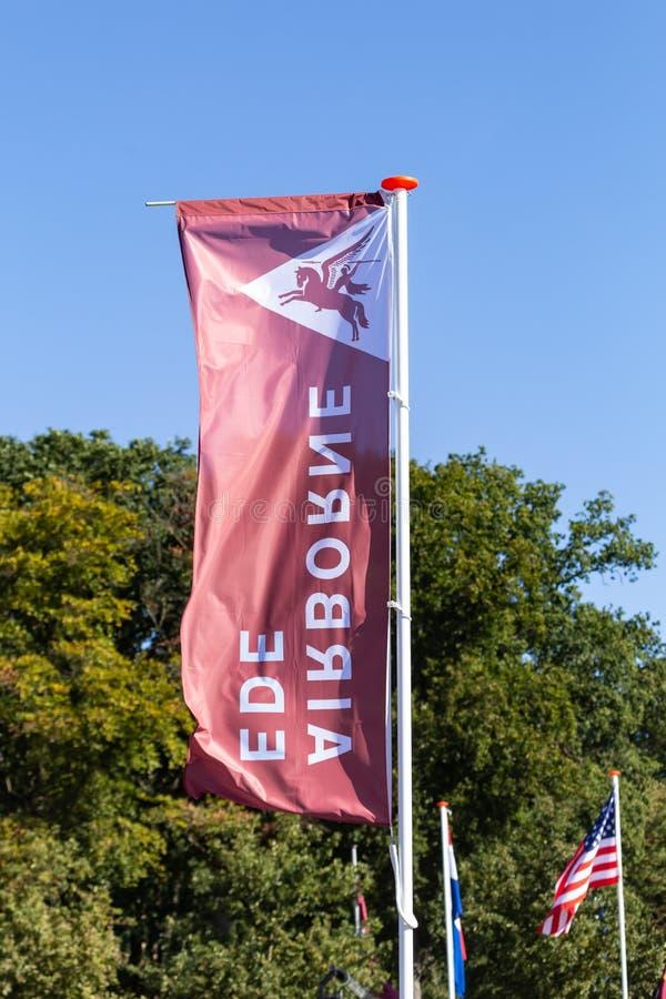 Giardino di bandiera a memoria di origine aerea di Ede Paesi Bassi immagini stock