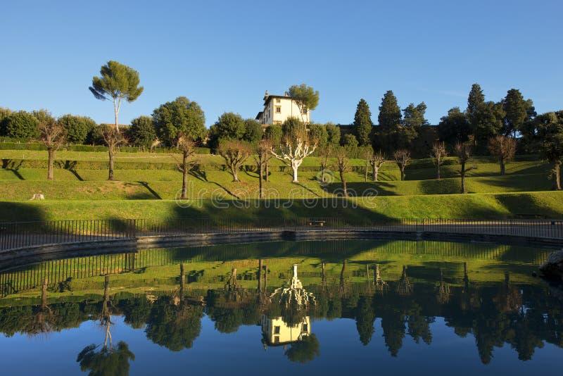 Giardino di Boboli (jardines de Boboli) en Florence Italy imágenes de archivo libres de regalías