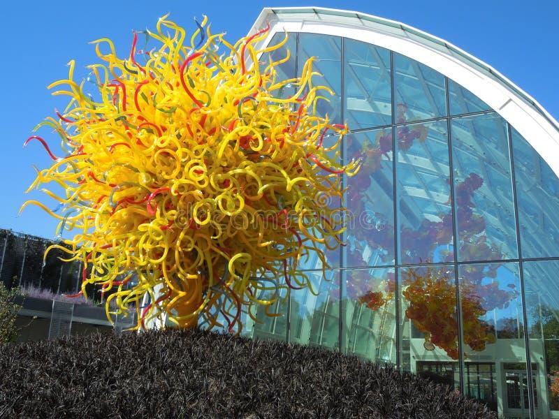 Giardino di Chihuly e museo Seattle di vetro fotografia stock libera da diritti