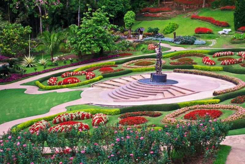 Giardino di Fahrenheit Luang di Mae immagine stock