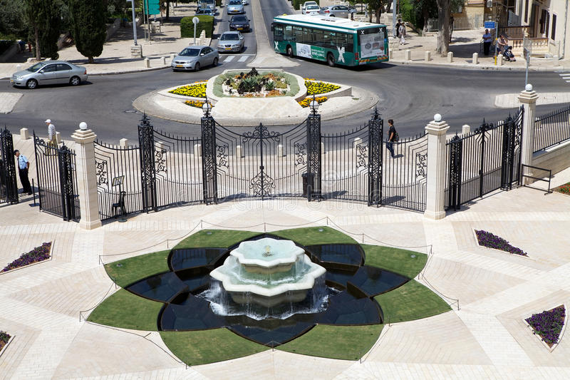Giardino di Haifa Bahai fotografie stock