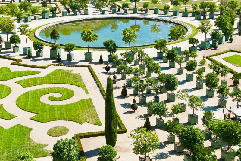 Giardino di inverno a Versailles fotografia stock libera da diritti