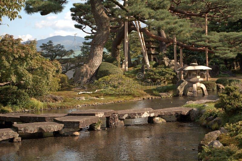 Giardino di Kenroku, Kanazawa, Giappone immagini stock