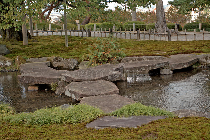 Giardino di Kenroku, Kanazawa, Giappone fotografia stock